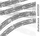 white tire track background | Shutterstock .eps vector #83559559