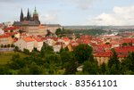 Castle and Historical Center of Prague, Czech Republic - stock photo