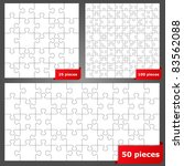 vector puzzles with 25  50 and... | Shutterstock .eps vector #83562088