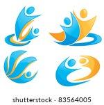 vector symbols of people  love  ... | Shutterstock .eps vector #83564005