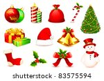 illustration of christmas ball... | Shutterstock .eps vector #83575594