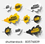 eps10  autumn sticker realistic ... | Shutterstock .eps vector #83576839