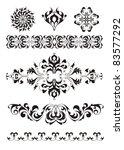 set of tattoo elements   Shutterstock .eps vector #83577292