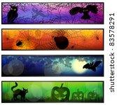 four halloween banners | Shutterstock .eps vector #83578291