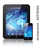 vector digital tablet | Shutterstock .eps vector #83578360