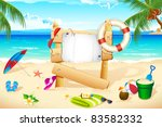 illustration of lifebouy and...   Shutterstock .eps vector #83582332