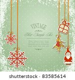 vintage  grungy new year ... | Shutterstock .eps vector #83585614