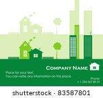 green town  vector illustration | Shutterstock .eps vector #83587801
