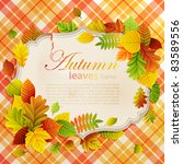 autumn vintage greeting card... | Shutterstock .eps vector #83589556