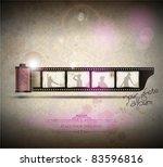 elegant vintage empty photo... | Shutterstock .eps vector #83596816