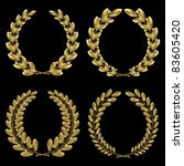 Set From  Gold Laurel And Oak...
