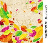 brightly colored autumn leaves... | Shutterstock .eps vector #83613784