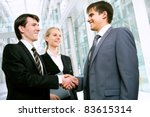 business people greet each... | Shutterstock . vector #83615314