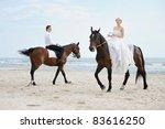 Beach Wedding  Bride And Groom...