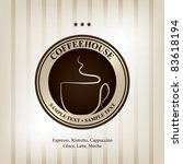 the concept of coffeehouse menu ... | Shutterstock .eps vector #83618194