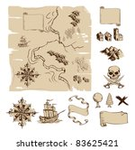 example map and design elements ... | Shutterstock .eps vector #83625421