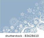 decorative winter floral...