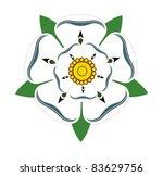 white rose of yorkshire... | Shutterstock . vector #83629756