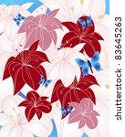 summer image with butterflies... | Shutterstock .eps vector #83645263