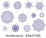 arabesque tracery round set | Shutterstock .eps vector #83647330