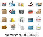 shopping and e commerce icons | Shutterstock .eps vector #83648131