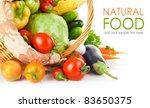 fresh vegetable with leaves... | Shutterstock . vector #83650375