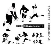 rugby silhouettes set .vector... | Shutterstock .eps vector #83651938