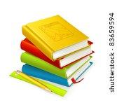 stack of textbooks  vector | Shutterstock .eps vector #83659594