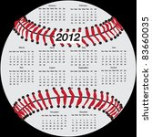 2012 Calendar In Shape Of...