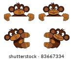 various monkeys as frame...