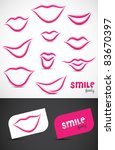 collection of smile icon such... | Shutterstock .eps vector #83670397
