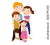family with two children | Shutterstock .eps vector #83679145