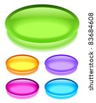 oval glass buttons  eps10... | Shutterstock .eps vector #83684608