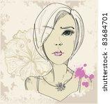 young girl | Shutterstock .eps vector #83684701