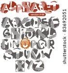 car track font | Shutterstock .eps vector #83692051
