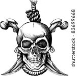 jolly roger skull | Shutterstock .eps vector #83699668