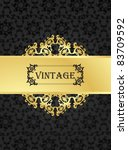 vintage vector background with... | Shutterstock .eps vector #83709592