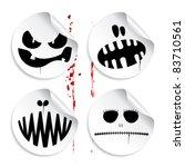 monster smileys on blood... | Shutterstock .eps vector #83710561