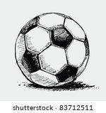 soccer ball | Shutterstock .eps vector #83712511