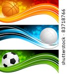 set of banners with ball | Shutterstock .eps vector #83718766