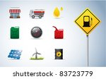 gasoline  oil and energy icons | Shutterstock .eps vector #83723779