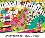 colorful pop art  modern and... | Shutterstock .eps vector #83724409