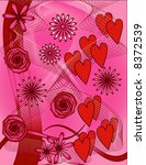hearts and flowers | Shutterstock .eps vector #8372539