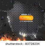 vector of abstract breaking... | Shutterstock .eps vector #83728234