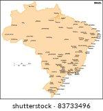 brazil country map | Shutterstock .eps vector #83733496