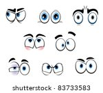 set of cartoon funny eyes for... | Shutterstock . vector #83733583