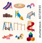 cartoon park playground icon | Shutterstock .eps vector #83735935