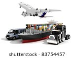 3d global business commerce... | Shutterstock . vector #83754457