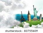 european holidays   travelling... | Shutterstock . vector #83755609