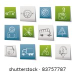 car services and transportation ... | Shutterstock .eps vector #83757787